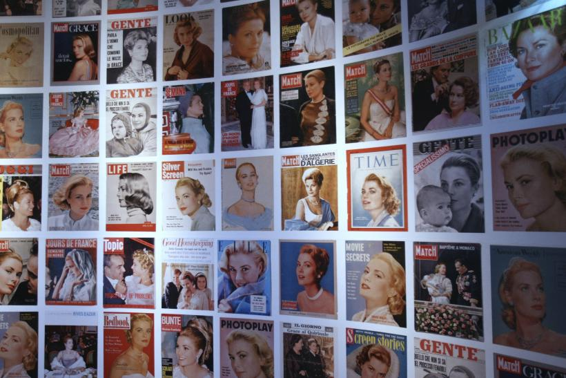 [10:36] The front pages of magazines feature US actress and Princess of Monaco Grace Kelly as part of an exhibit at the Paris City Hall