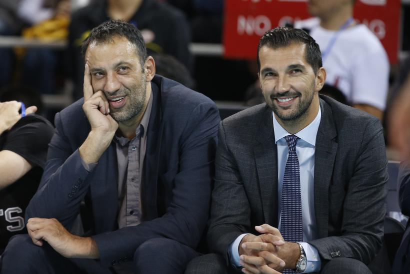 Divac and Stojakovic