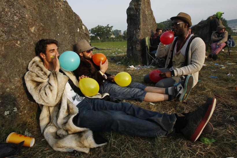 Laughing gas protest