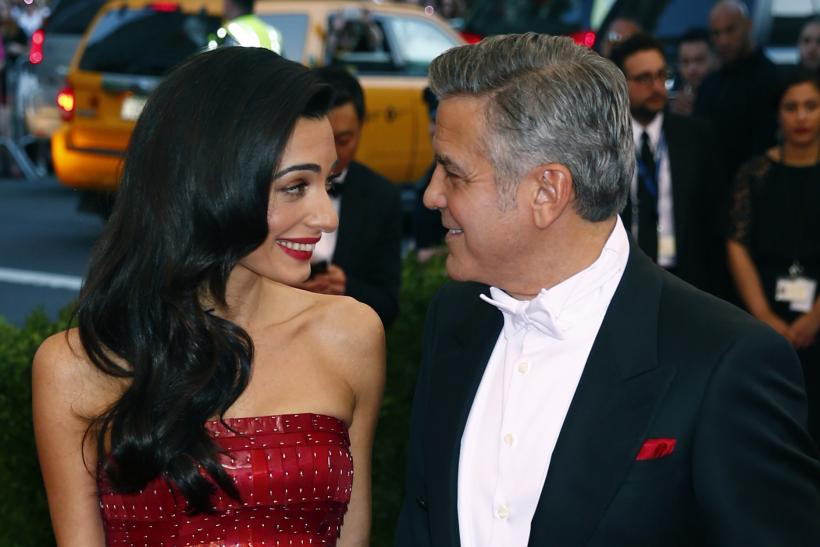 [11:09] George Clooney and wife Amal Clooney arrive at the Metropolitan Museum of Art Costume Institute Gala 2015