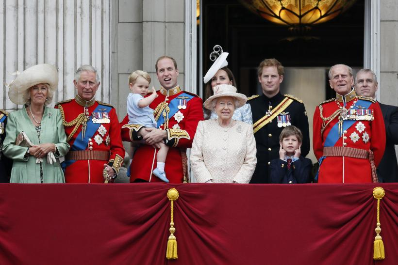 [12:54] Senior members of Britain's royal family stand on the balcony of Buckingham Palace in the annual Trooping of the Colour