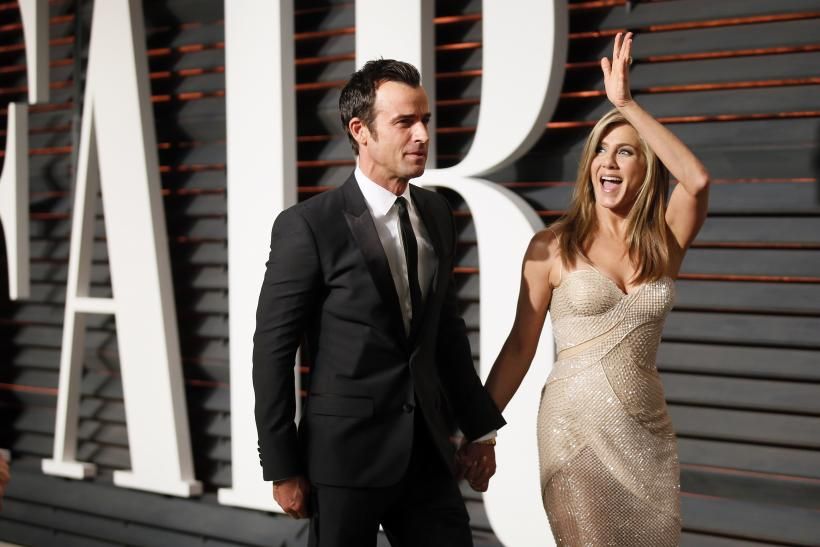 [11:16] Actress Jennifer Aniston and fiance Justin Theroux arrive at the 2015 Vanity Fair Oscar Party