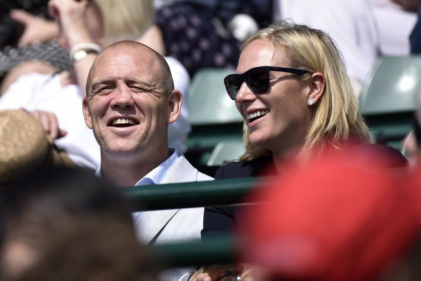 Britain's Zara Phillips with husband Mike Tindall