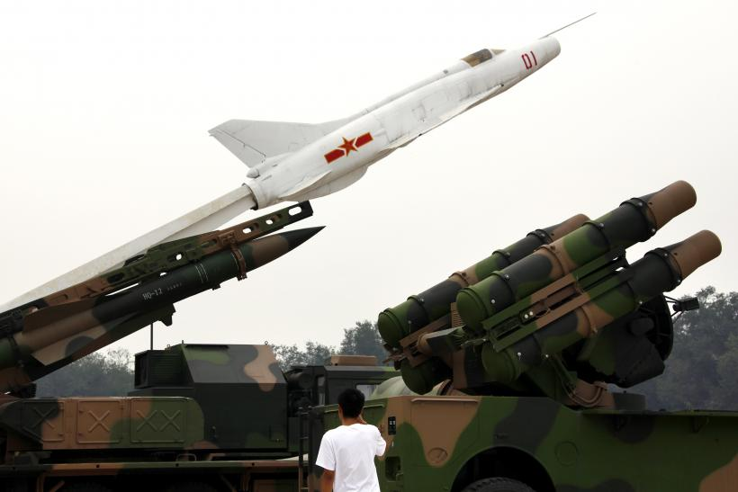 Chinese missile launchers.