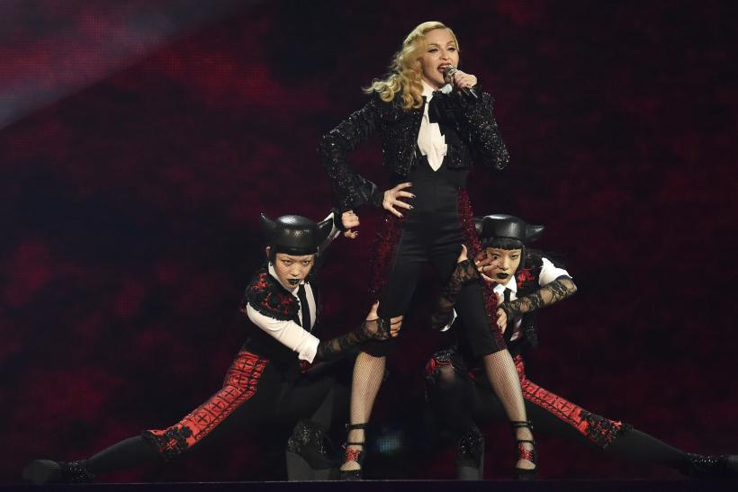 [11:09] Singer Madonna performs at the BRIT music awards