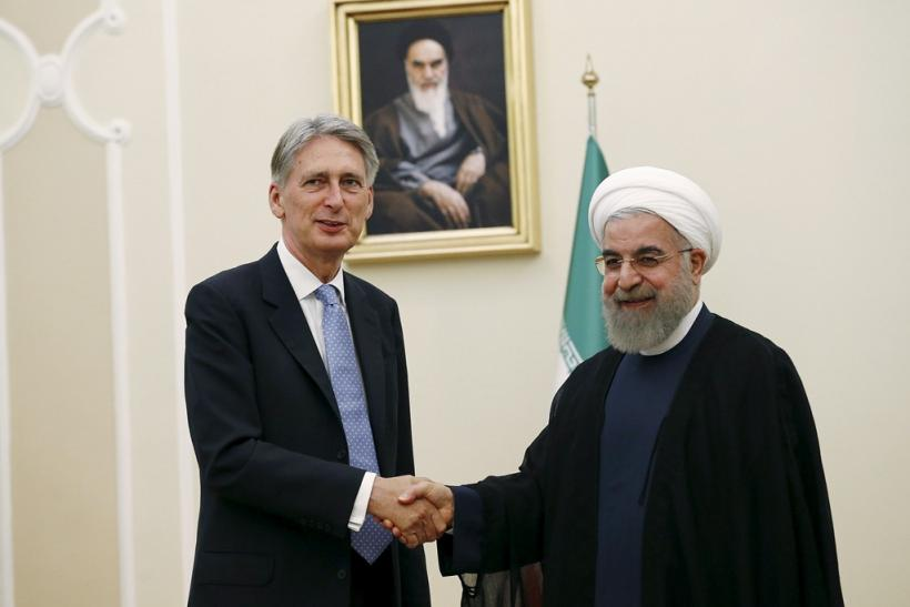 Philip Hammond with Hassan Rouhani