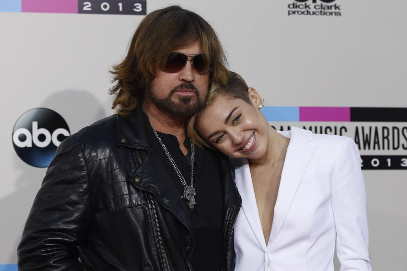 Singer Miley Cyrus and her father Billy Ray Cyrus