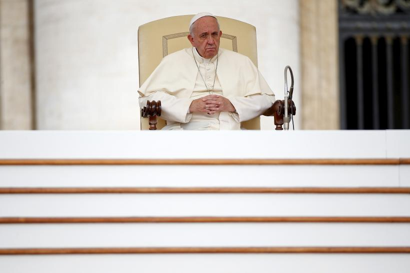pope francis seated