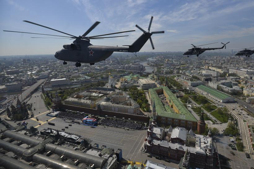 Russian helicopters in formation