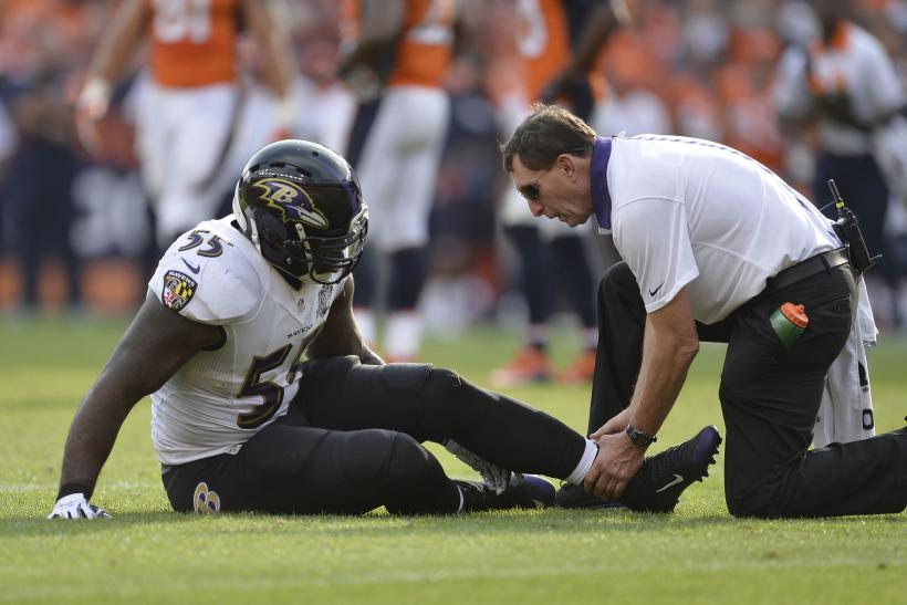 Injured Terrell Suggs