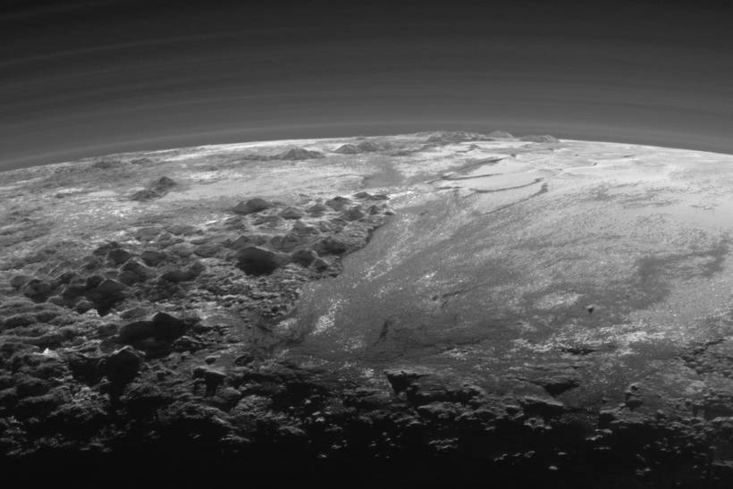 Pluto Mountains and Plains