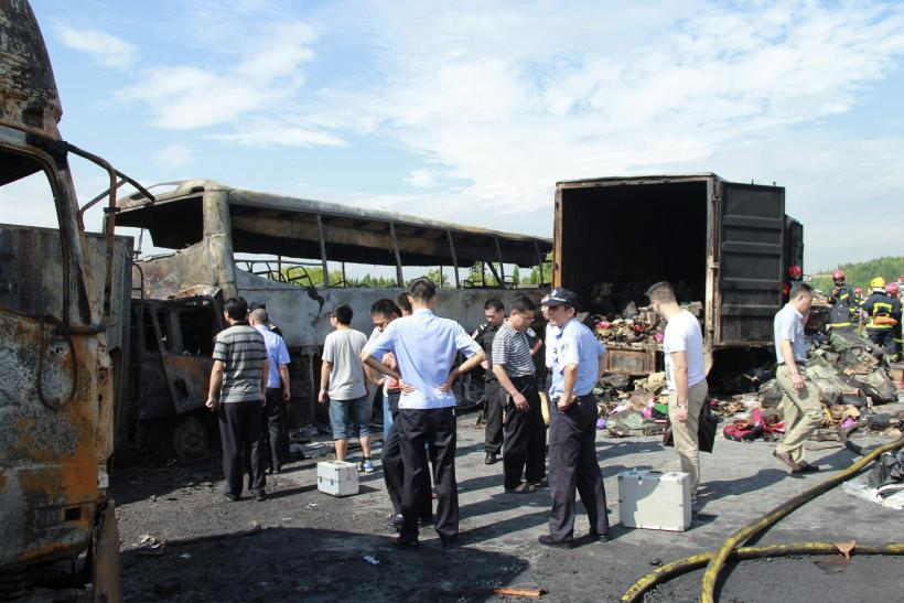 China road accident