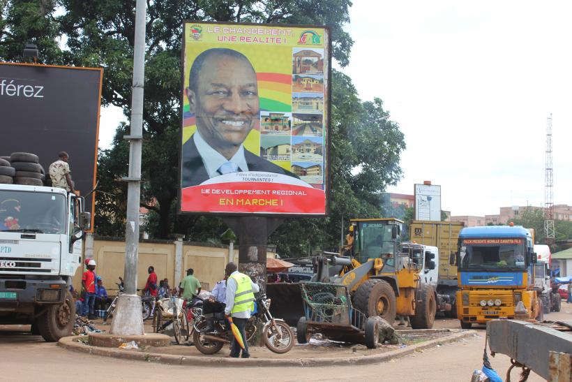 Guinea presidential election poster