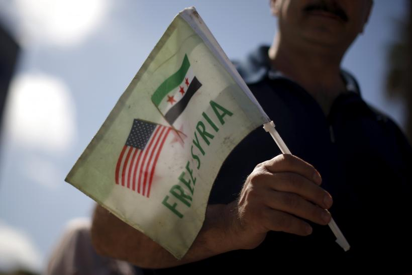Syrian-Americans protest