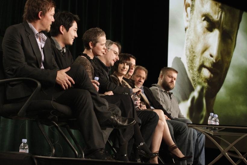 "Cast members and producers of ""The Walking Dead"""