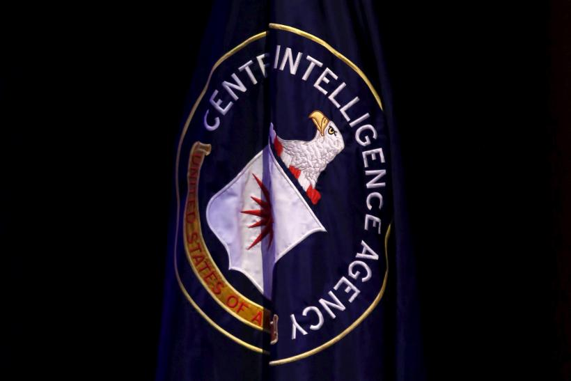 The CIA flag at a conference
