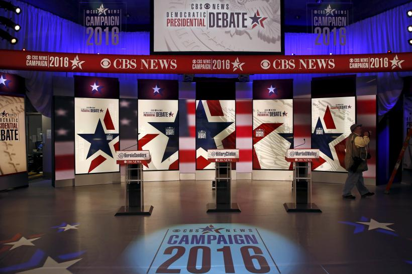The stage for the Democratic debate