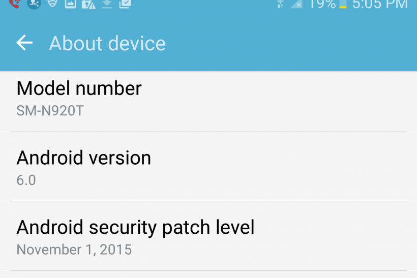 Android 6.0 Marshmallow on Galaxy Note 5