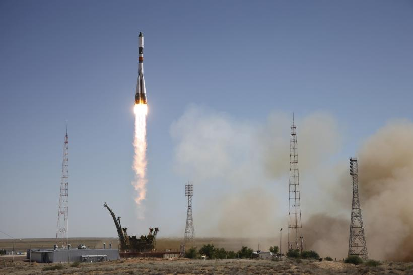 A Russian rocket takes off