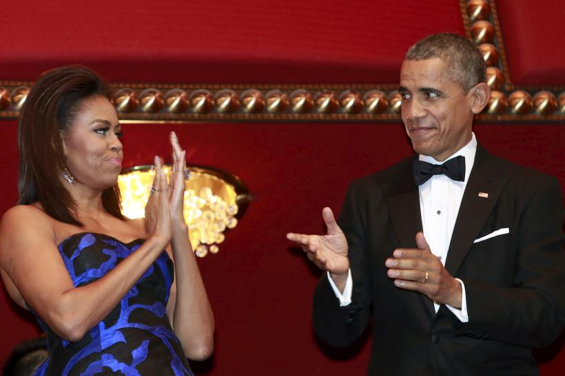 U.S. President Barack Obama and first lady Michelle Obama