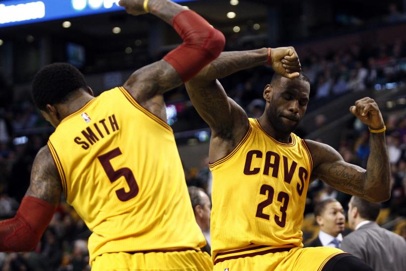 JR Smith and LeBron James