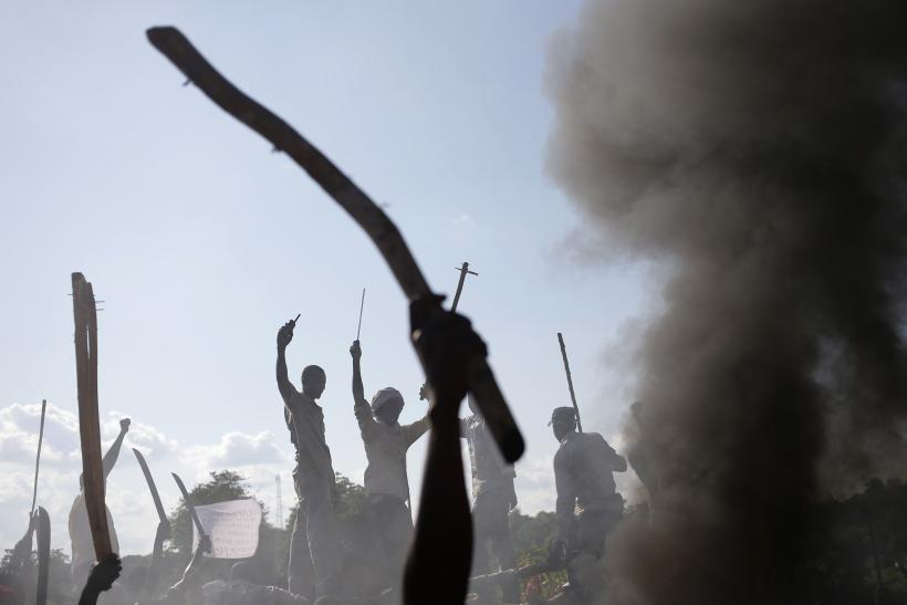 Protestors in the Central African Republic