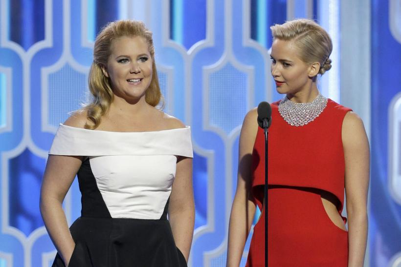 Amy Schumer and Jennifer Lawrence