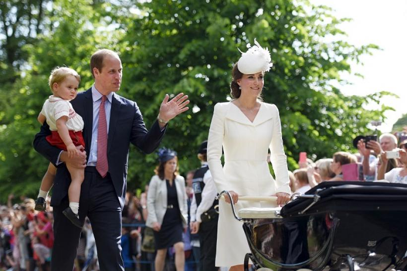 Duke and Duchess of Cambridge with son Prince George and baby daughter Princess Charlotte