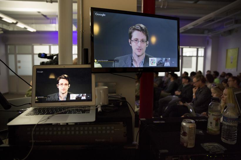 Snowden teleprompter
