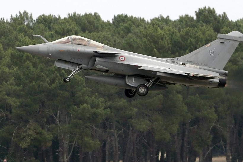 A Rafale jet takes off in southwestern France.