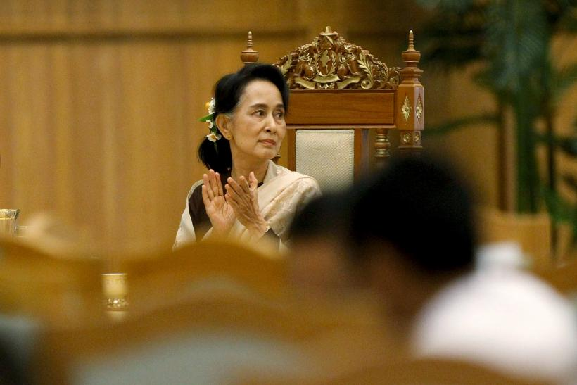MYANMAR-POLITICS-FAREWELL-PARTY