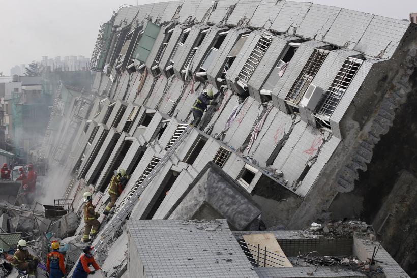 Construction Concerns Fall Protection And Steel Buildings: Taiwan Earthquake: High-Rise Building Collapse Reveals