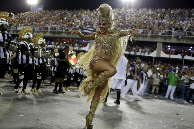 A samba dancer performs in Rio during the 2016 Brazil Carnival.