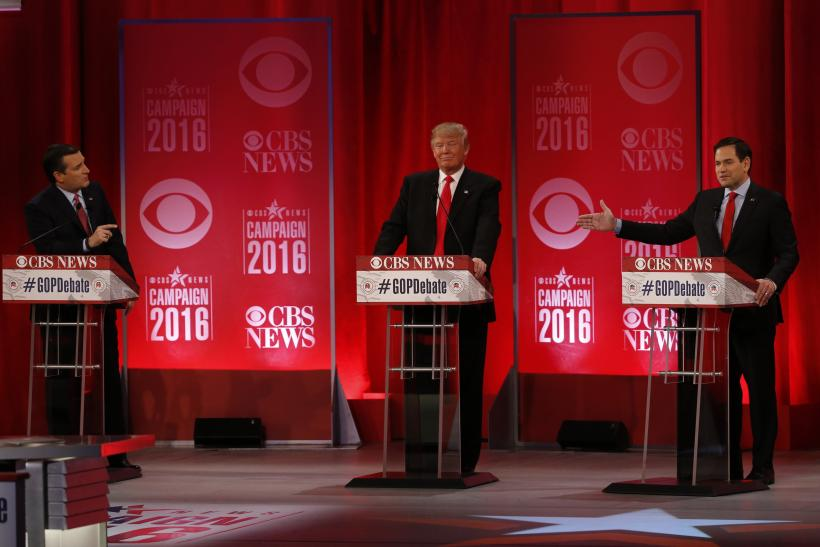 Trump's Houston GOP debate stand-in a younger, calmer version of the candidate