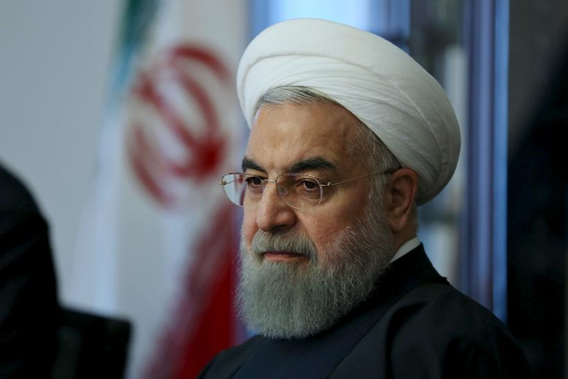 Iran President Hassan Rouhani appearing before the elections.