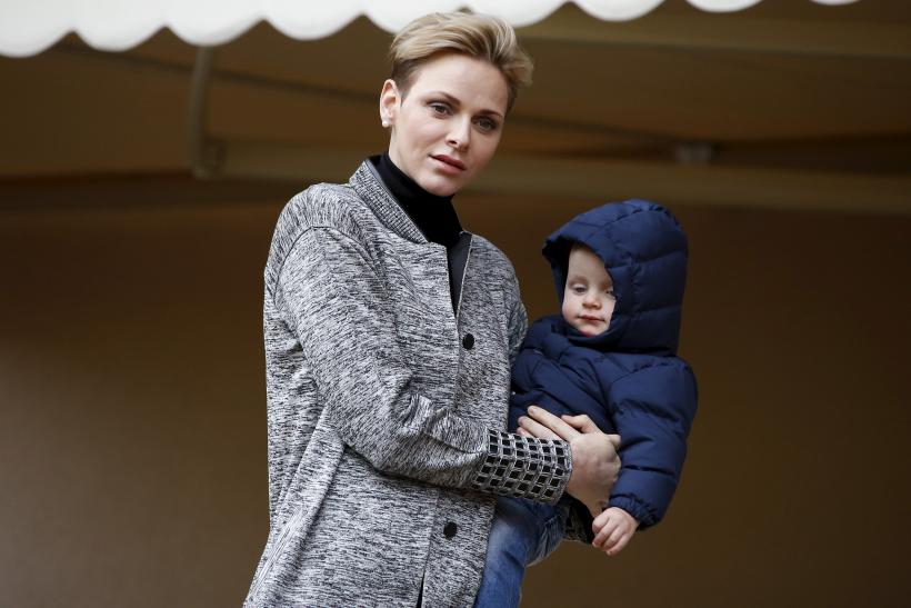 Princess Charlene of Monaco and her son Prince Jacques
