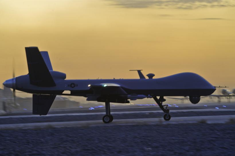 An MQ-9 Reaper drone preparing for a mission in Afghanistan.