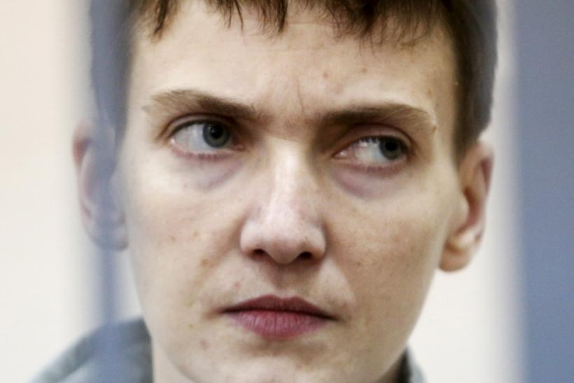 Ukrainian pilot savchenko denounces russian for Farcical used in a sentence