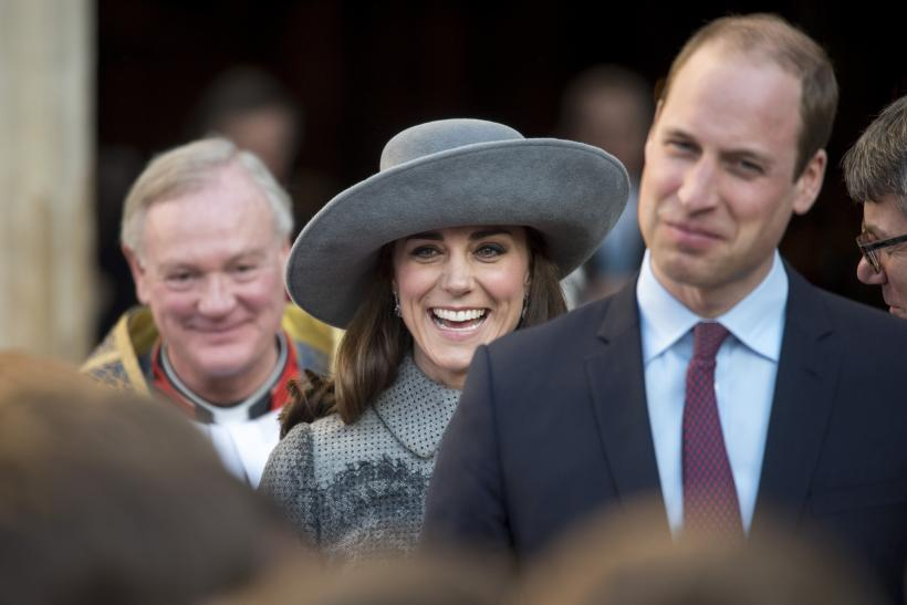 Britain's Prince William and Catherine