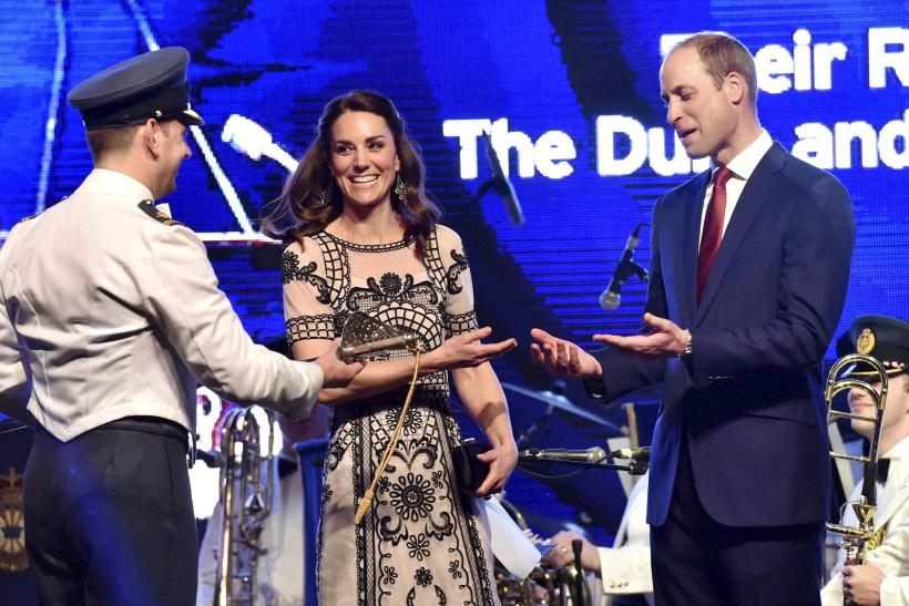 Catherine, Duchess of Cambridge in an Alice Temperley gown