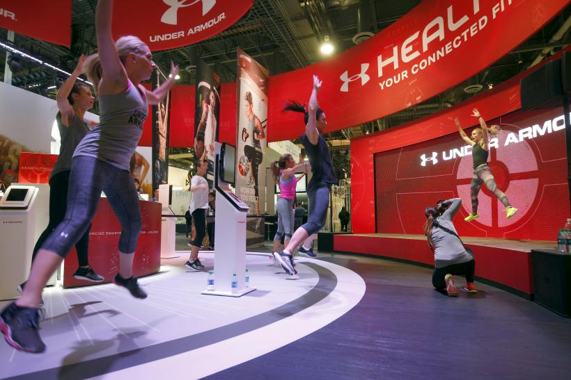 Under Armour booth