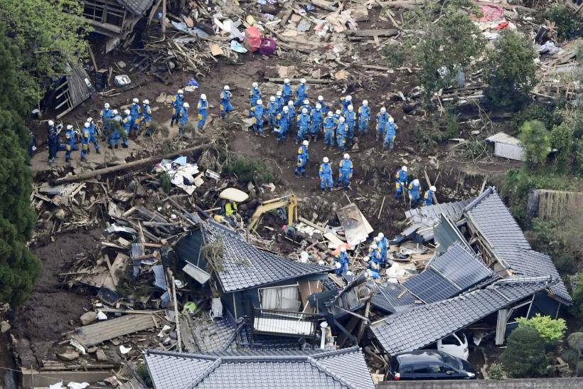 More than 40 people have been killed in two powerful earthquakes that struck the Japanese island of Kyushu Thursday and Saturday.