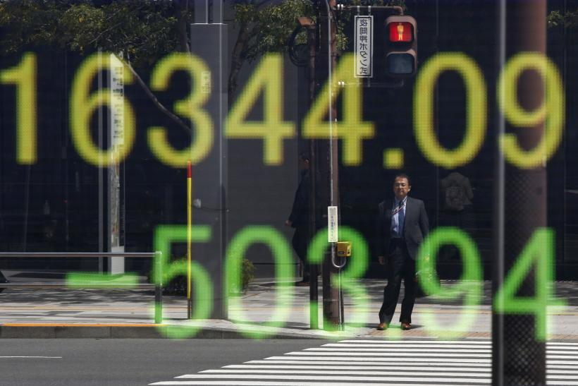 Nikkei board reflected