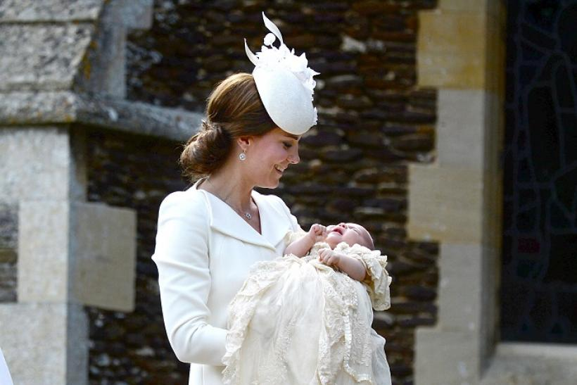 The Duchess of Cambridge with daughter Princess Charlotte