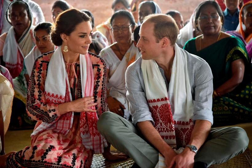 Britain's Prince William and his wife Catherine, the Duchess of Cambridge