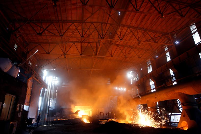 China steel mill