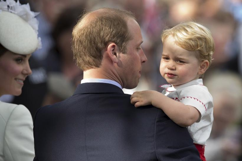 Prince George with parents, The Duke and Duchess of Cambridge