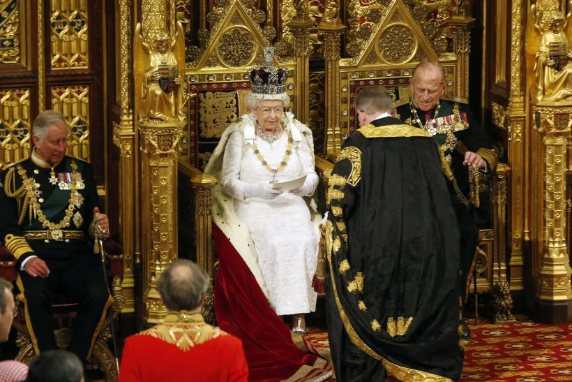Britain's Queen Elizabeth at the State Opening of Parliament