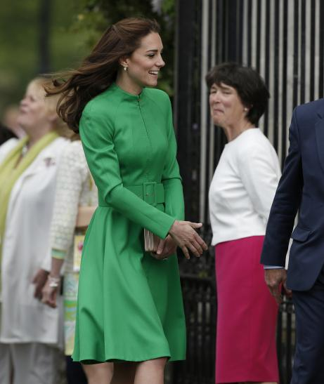 Kate Middleton Wows In Green Catherine Walker Coatdress At Chelsea Flower Show
