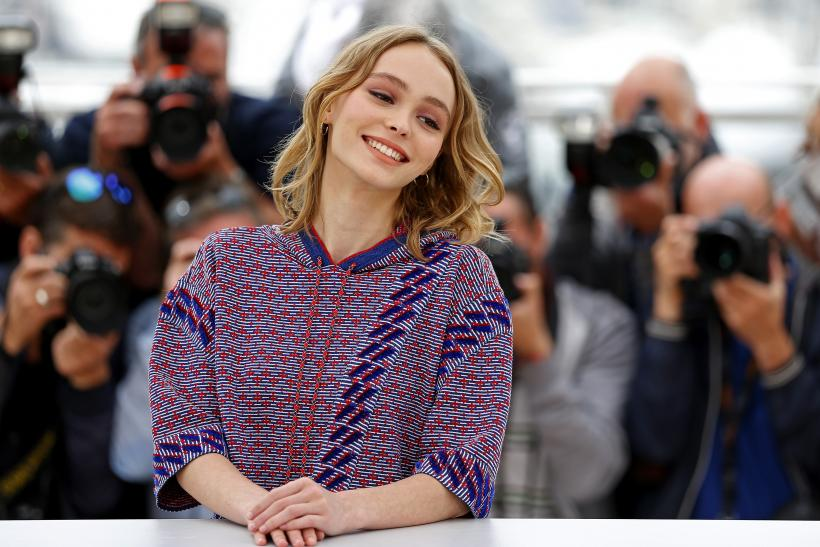 Cast member Lily-Rose Melody Depp poses during a photocall for the film 'The Dancer'
